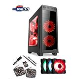 1stCOOL FullTower GAMER 2, set FAN1 RGB LED, skrinka ATX, USB3.0, čierna