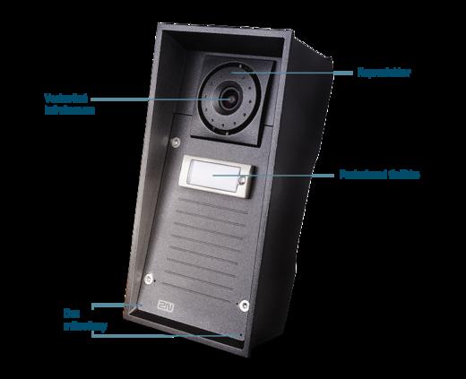 2N Helios IP Force 1 tlačítko, piktogramy a příprava pro čtečku, 10W reproduktor