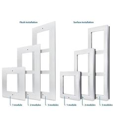 2N Helios IP Verso Rám pro instalaci do zdi, 1 modul