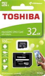 32 GB . microSDHC karta Toshiba Class 10 UHS + adaptér