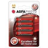 AgfaPhoto zinková batéria R06/AA, blister 4ks