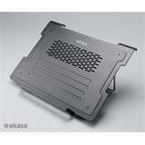 """AKASA AK-NBC-30BK Alpen chladič pre notebook 12"""" - 15,6"""", čierny, nastaviteľný s USB Hub"""