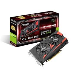ASUS EX-GTX1050-O2G 2GB/128-bit GDDR5, DVI, HDMI, DP