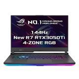"""ASUS ROG Strix G15 G513IE-HN003T AMD R7-4800H 15.6"""" FHD mat 144Hz RTX3050Ti/4GB 16GB 512GB SSD WL BT W10 CS;"""