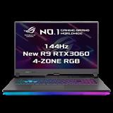 """ASUS ROG Strix G17 G713QM-HX016T AMD R9-5900HX 17.3"""" FHD matný 144Hz RTX3060/6G 16GB 1TB SSD WL BT W10 CS"""