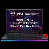 "ASUS ROG Strix SCAR 17 G733QR-HG017T AMD R9 5900HX 17.3"" FHD matný 300Hz RTX3070/8G 32GB 1TB SSD WL BT Cam W10 CS;"