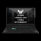 """ASUS TUF Dash F15 FX516PE-HN001T Intel i7-11370H 15.6"""" FHD 144Hz matny RTX3050Ti/4GB 16GB 512GB SSD WL BT W10 CS;sedy"""