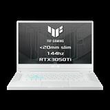 """ASUS TUF Dash F15 FX516PE-HN019T Intel i7-11370H 15.6"""" FHD 144Hz matny RTX3050Ti/4GB 16GB 512GB SSD WL BT W10 CS;biely"""