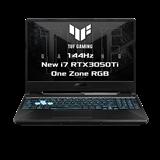 """ASUS TUF Gaming F15 FX506HE-HN106T Intel i7-11800H 15.6"""" FHD IPS 144Hz mat RTX3050Ti/4G 16GB 1TB SSDWL BT Cam W10 CS;Num"""