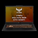 """ASUS TUF Gaming FX706LI-HX205T Intel i7-10870H 17.3"""" FHD IPS matný GTX1650Ti/4G 16GB 512GB SSD WL BT Cam W10 CS"""