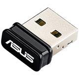 ASUS - USB-N10 Nano, Wireless USB 2.0 card 802.11n, 150 Mbps, nano dongle