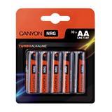Canyon ALKAA10, alkalické tužkové batérie AA, 10ks/balenie - blister