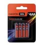Canyon ALKAAA4, alkalické mikrotužkové batérie AAA, 4ks/balenie - blister