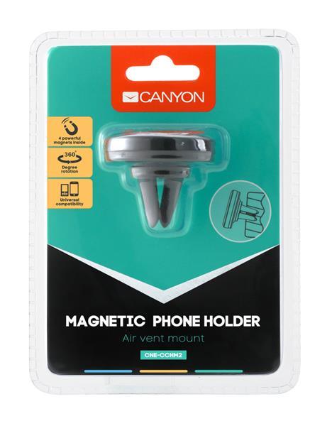 Canyon CNE-CCHM2 magnetický držiak pre smartfóny s uchytením do mriežky ventilátora automobilu