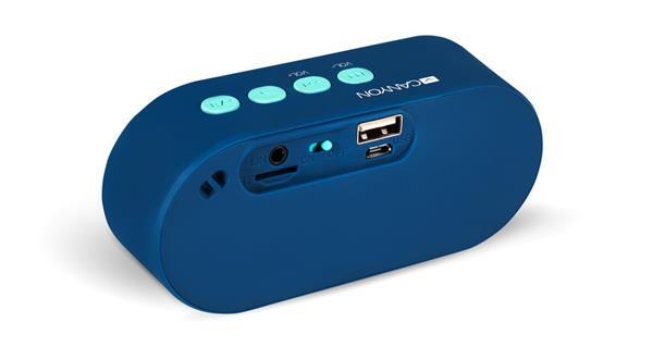 Canyon CNS-CBTSP3 Bluetooth stereo reproduktor, 3.5mm mini jack, USB/micro USB, microSD slot, integr. akum.