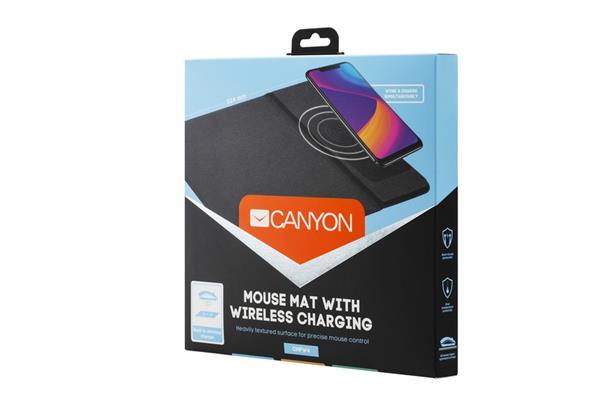Canyon CNS-CMPW4, podložka pod myš s QI bezdrôtovým nabíjaním, 324 x 244 x 6mm,čierna