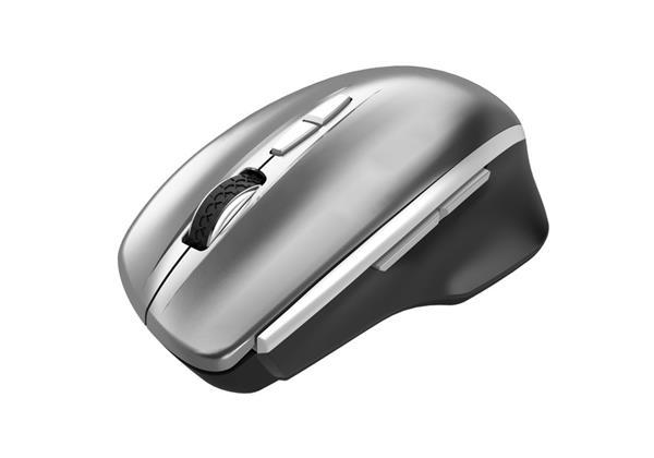 Canyon CNS-CMSW21DG, Wireless optická myš, USB prij., Blue LED senz., 800/1.200/1.600 dpi, 3 tlač, 1x AA bat., šedá