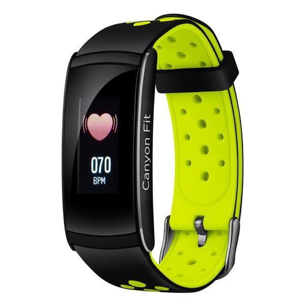 Canyon CNS-SB41BG smart hodinky, Bluetooth, farebný LCD displej 0.96´´, vodotesné IP 68, multišport režim, , čierno-zele