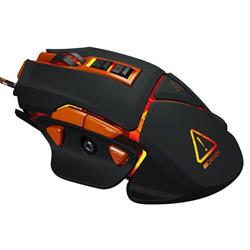Canyon Hazard CND-SGM6N hráčska myš, drôtová, optická, 800/1600/2400/4800/6400 dpi, 9 program. tlač, LED podsv., čierna