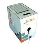 CNS kabel UTP, Cat6, drát, PVC, box 305m - šedá