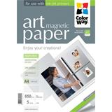 "ColorWay Fotopapier ART Matný ""magnetický"" 650g/m, 5ks, A4"