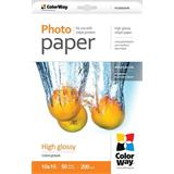 ColorWay Fotopapier Vysoko lesklý 200g/m,50ks,10x15
