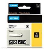 DYMO Vinylová páska 9 mm x 5,5 m, biela/čierna