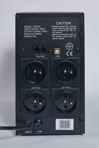 EAST UPS 2000VA LINE INTERACTIVE, 4x FR zásuvka, RJ45, USB data
