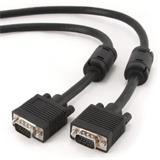 Gembird kábel VGA HD15 (M) na VGA HD15 (M) Premium, tienený, 2 x feritové jadrá, 5 m,čierny