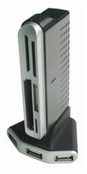 Gembird USB 2.0 hub/čítačka pamäťových kariet CF/MD/SM/MS/SD/MMC/XD, externá