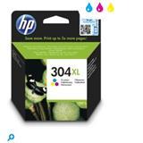 HP originál ink N9K07AE, HP 304XL, Tri-color, 300str., 7ml