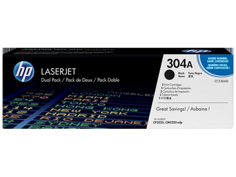 HP Toner cartridge, black pre CP2025. - DUAL pack