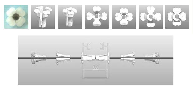 Průchodka pro DROP FTTx kabel 3mm (pro okenní rámy apod.)