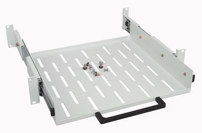 MOELLER / EATON polička výsuvná 2U/400mm, šedá, 4-bod.uchycení, do 50kg