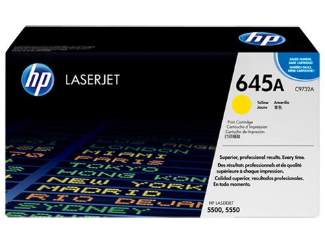 HP toner for CLJ5500/5550 yellow