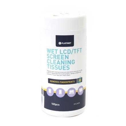 Platinet - Navlhčené čistiace utierky na LCT/TFT 100 ks