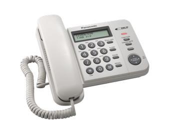 Panasonic KX-TS560FXW jednolinkovy telefon / biely