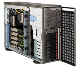 Supermicro® CSE-747TQ-R1620B Tower/4U chassis