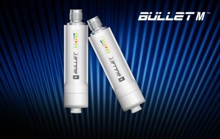 Ubiquiti Bullet M5 - miniaturní outdoor klient 5Ghz MiMo, 1xLAN