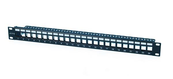 CNS modulárny patch panel 24port 1U vhodný pre UTP i FTP keystony