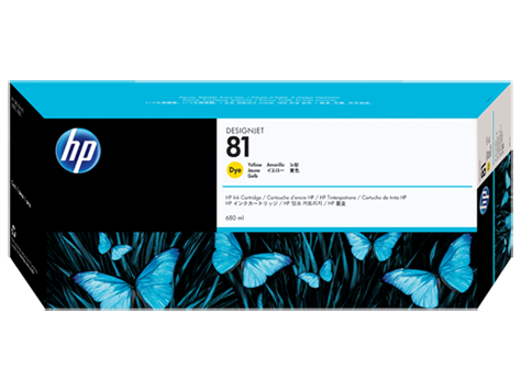 HP No. 81 Yellow Ink Cartridge (680 ml) for HP DSJ 5000