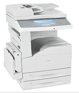 Lexmark X862de4, mono laser MFP, 2400IQ, 45ppm, 256 MB, DUPLEX, LAN