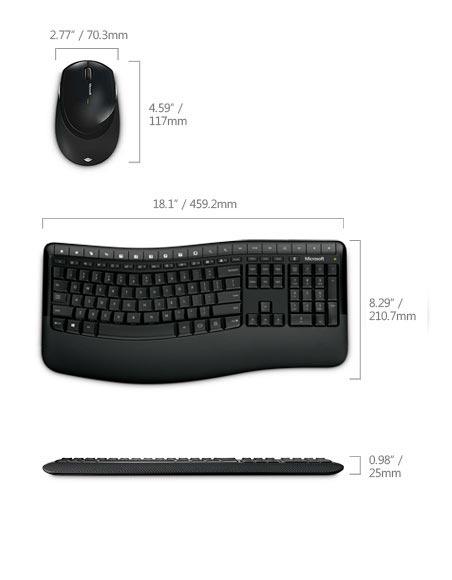 Desktop Wireless Comfort 5050 USB English - Black / Klavesnica+mys / cierne