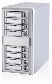 ARECA external aluminium SAS/ SATA tower 8xHDD, 2xSFF-8088, 220W