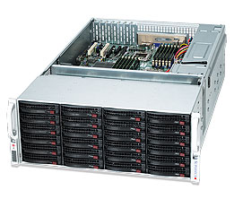 Supermicro®CSE-847E16-R1400LPB, 4U, Single SAS-II Expander, Redundant PSU 1400W, Low Profile, Black