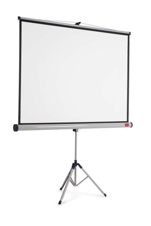 NOBO 4:3 TRIPOD SCREEN 1750 x1325mm, manuálne plátno matné biele na trojnožke