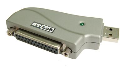 Redukcia z USB na bitronics. Paralelný port, 25pin