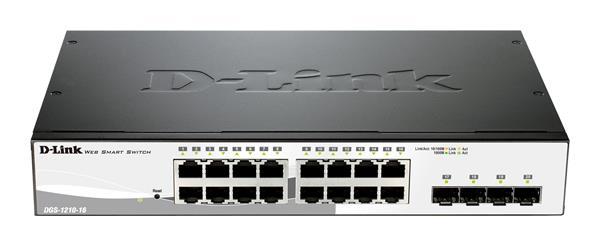 D-Link DGS-1210-16 16-port 1Gb Smart Switch, 4x Combo/SFP