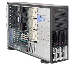 Supermicro® SC748TQ-R1200B Tower/4U chassis 5xSAS/SATA hs 1200W redundant