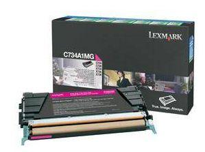 Lexmark C734, C736, X734, X736, X738 Magenta Return Program Toner Cartridge, 6K